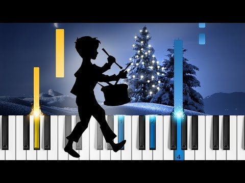 The Little Drummer Boy  Piano Tutorial  How to play christmas songs on piano