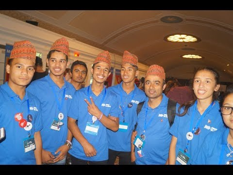 "Nepali ""Robot"" makers  (Teenage Scientists) in  Washington DC"