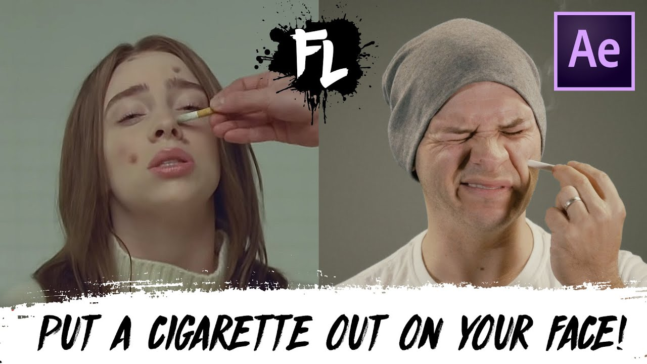 BILLIE EILISH - XANNY Put a Cigarette out on your Face (After Effects Tutorial)