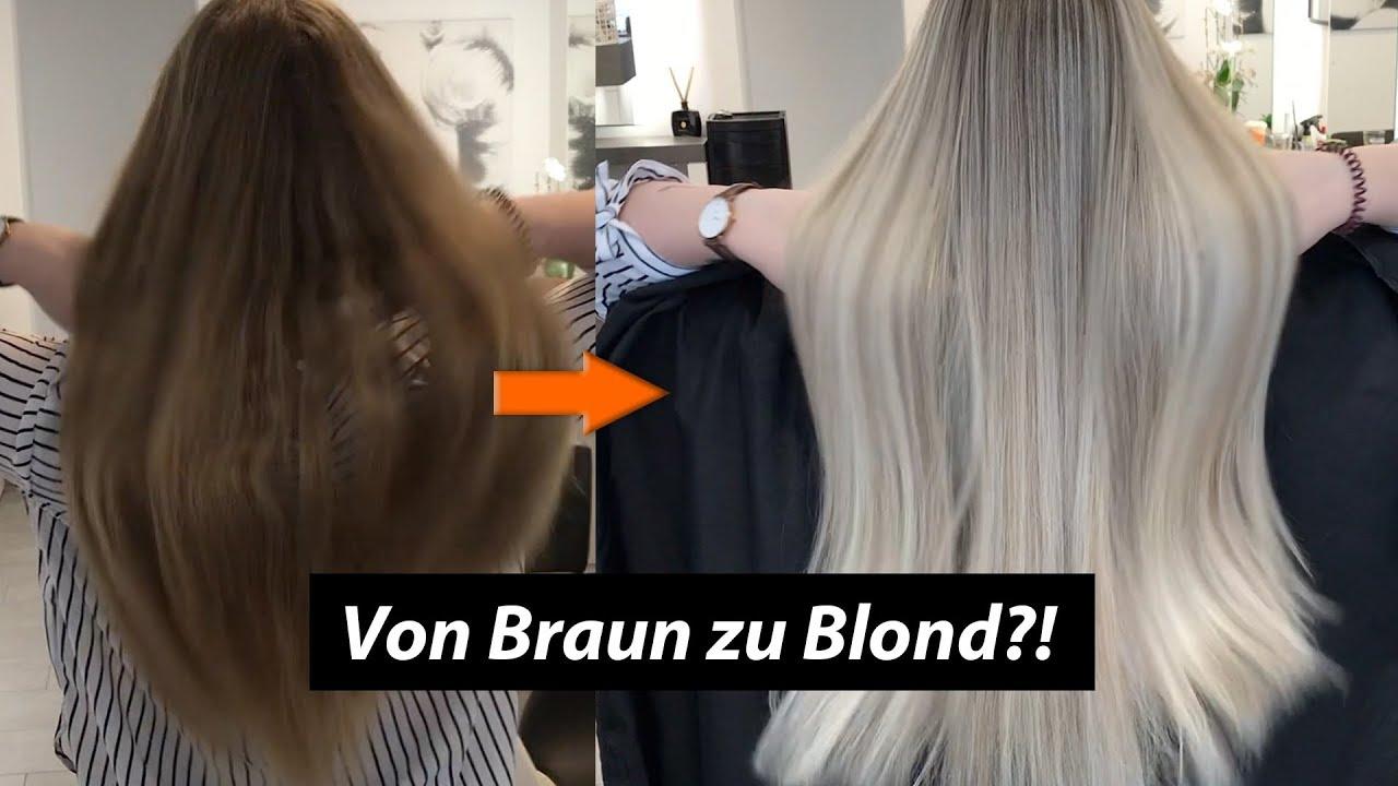 Von Braun Zu Blond Balayage Toupierte Technik Hairtutorial Youtube