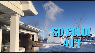 Freezing Boiling Water and Bubbles in the Polar Vortex!