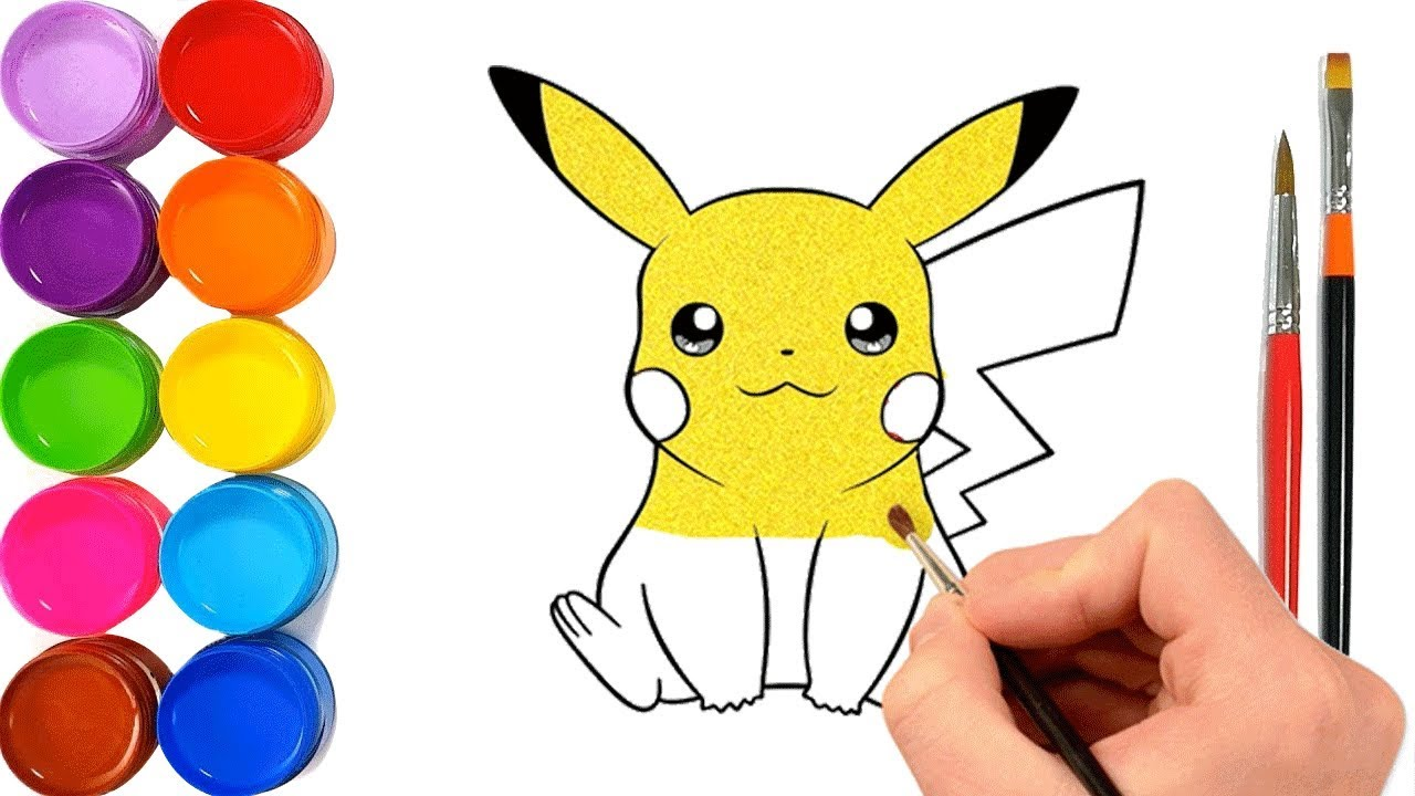 Pikachu Coloring Pages l Learn Colors Pokemon - Colorings ...