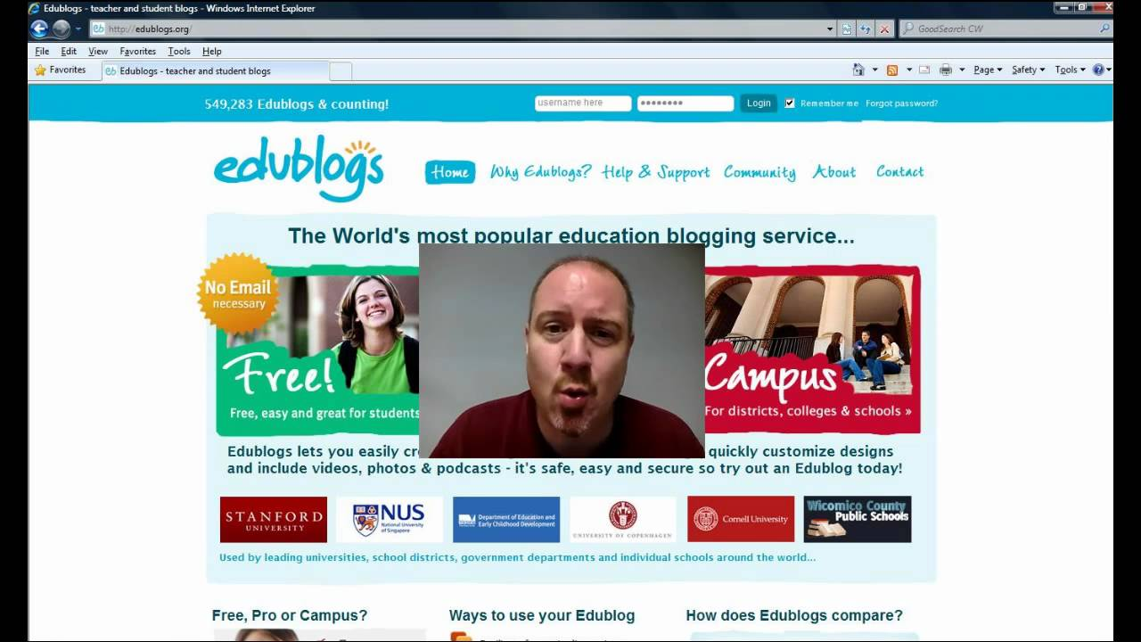 Starting A Blog On Edublogs
