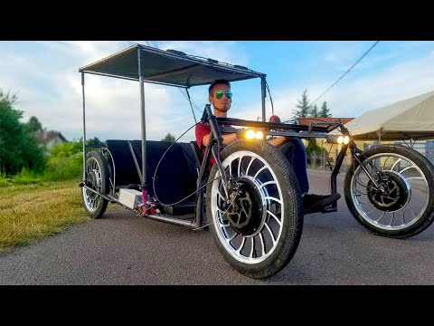 Homemade Electric Solar Car 4000W 51km/h 4WD DIY Project (part 3/4)