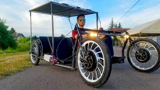 Homemade Electric Solar Car 4000W 51km/h 4WD DIY Project