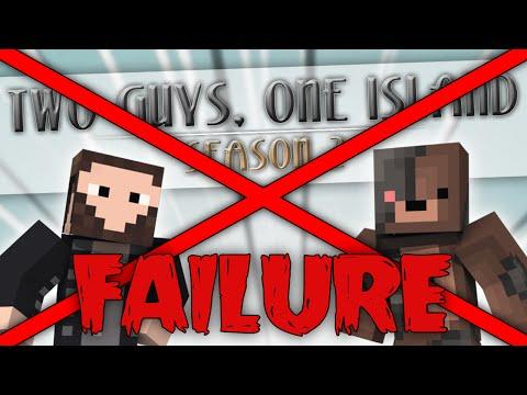 """Minecraft: Two Guys, One Island - Failed Season - Episode 7 """"Cray Cray Lag!"""""""