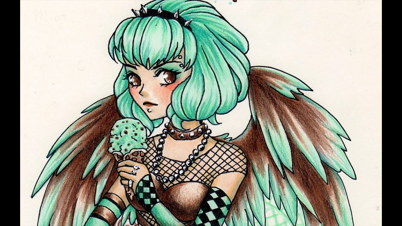 Copic Markers and PrismaColor coloring pencils - SpeedPaint - Angel ...
