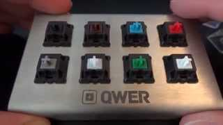 A Guide to Mechanical Keyboard Switches - QWER8 V2 Testing Kit - By TotallydubbedHD