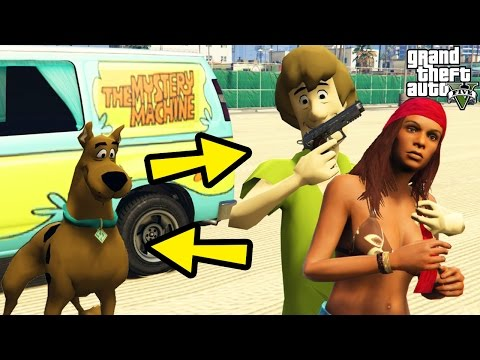 "GTA 5 Mods ""SCOOBY DOO MOD"" (GTA 5 Scooby Doo Mystery Cartoon, Scooby And Shaggy, Funny Moments)"