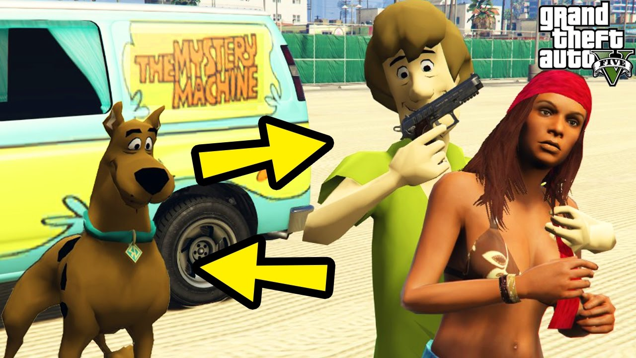 Gta 5 Cartoon Characters : Gta mods quot scooby doo mod mystery