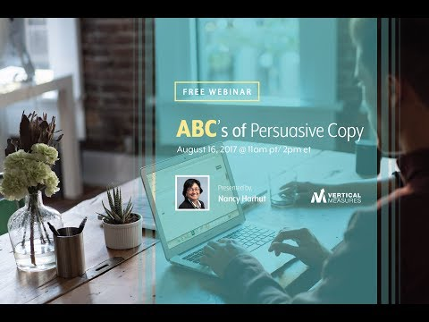 The ABCs Of Persuasive Copy With Nancy Harhut
