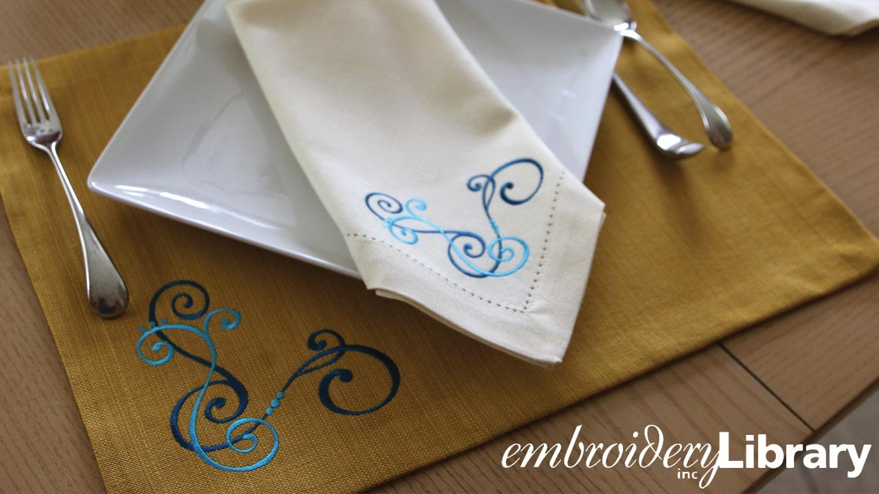 Embroidering Corner Designs Youtube