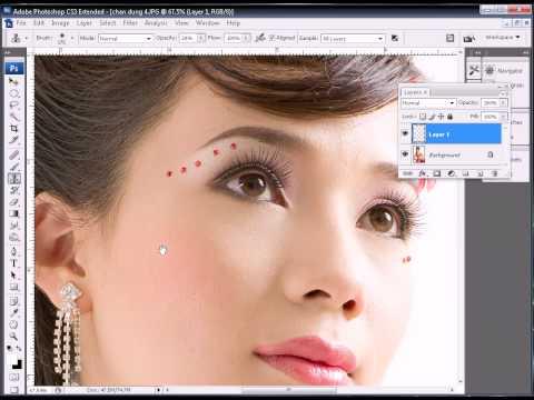 Photoshop CS3 - Phan 4 - Bai 2 - Xu ly da moi sieu dep cuc ky de