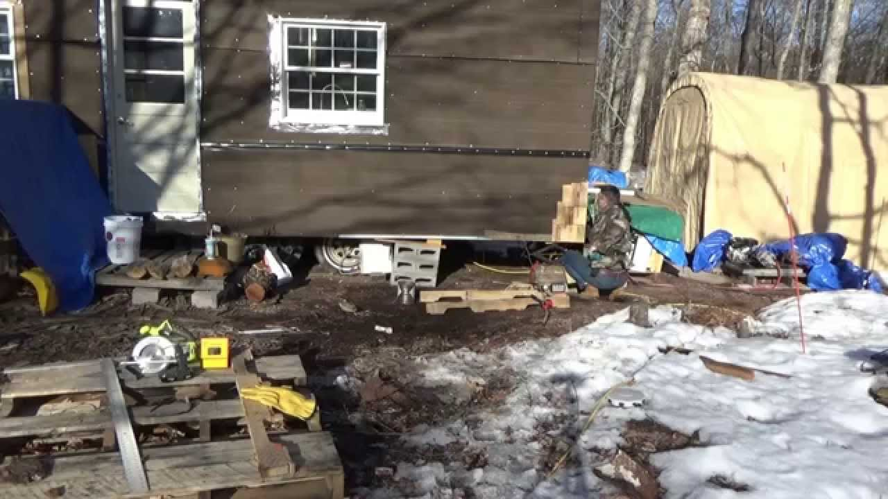 Making Free Pallet Wood Shake Siding For My Tiny House On ...