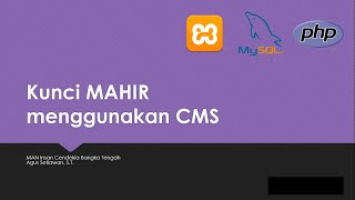 KUNCI dasar dalam install CMS - content management system di localhost / xampp