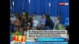 BT: Bahagi ng pahayag ng De La Salle Santiago-Zobel School