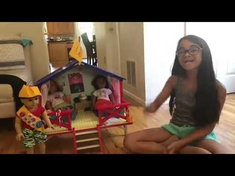 Unboxing The American Girl Camp Hangout