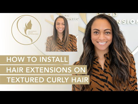 How To Install Straight Hair Extension On Textured Curly Hair