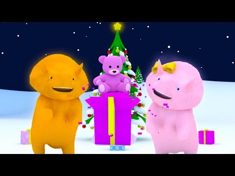 Learn colors by unwrapping Christmas presents with Dina and Dino the Dinosaur | Christmas special