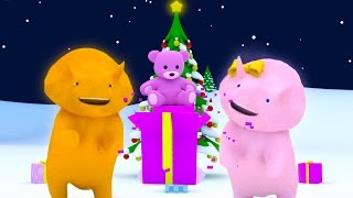Learn colors by unwrapping Christmas presents...