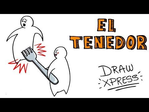 EL ORIGEN DEL TENEDOR 🍴   DrawXpress