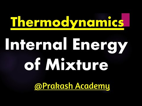 How to find internal energy of mixture