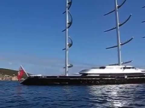 sardegna video barca a vela maltese falcon yacht, porto cervo durante la maxi rolex cup