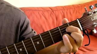 a major 7 a7 guitar chord demonstration