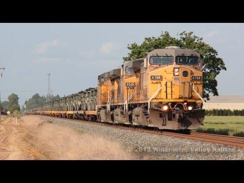 Union Pacific 6788 leads military transport train SPTYR-17 Salem, Oregon 5.17.12
