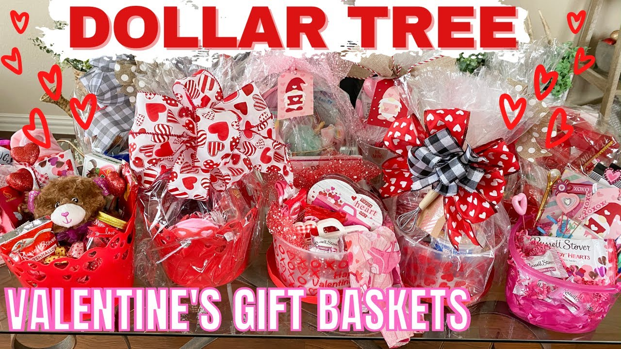 Dollar Tree Gift Baskets | Valentine's Gift IDEAS 2021