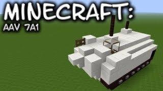 Minecraft: Assault Amphibious Vehicle AAV7A1 Tutorial