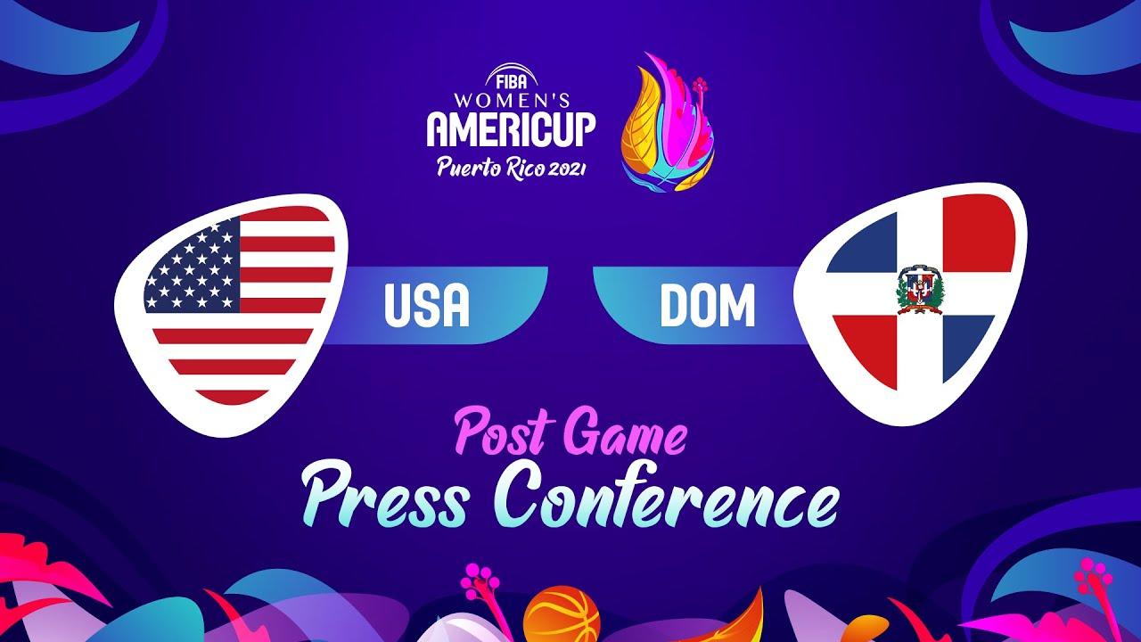 LIVE - USA v Dominican Republic - Press Conference | FIBA Women's AmeriCup 2021