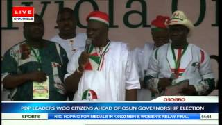 Jonathan, PDP Leaders Woo Osun Citizens Ahead Of Guber Election Pt.7