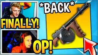 "STREAMERS REACT TO ""DRUM GUN"" *BACK* IN FORTNITE! (UNVAULTED)"
