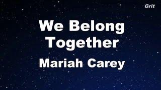 We Belong Together - Mariah Carey Karaoke【With Guide Melody】