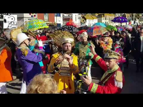 The Umbrella Parade - part of Fat Tuesday in Hastings