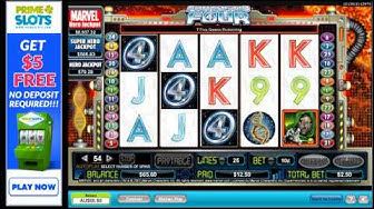 Marvel Fantastic Four pokies - awesome slot machine - free feature - free spins