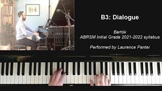 B:3 Dialogue (ABRSM Initial Grade piano 2021-2022)