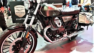 Moto Guzzi V9 Roamer EICMA 2018 Milan Walkaround power tv