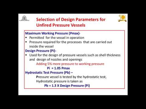 Design of Pressure Vessel (Unfired):Part-1