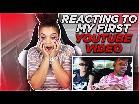 REACTING TO MY FIRST EVER YOUTUBE VIDEO ❤️