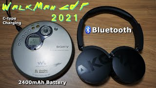 2021 워크맨 CDP - 블루투스, 충전식배터리, C…