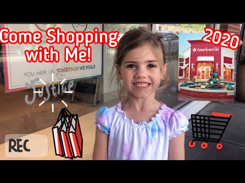 American Girl Doll Store And Justice 2020. Come Mall Shopping With Me. A 5 Year Old Can Do It.