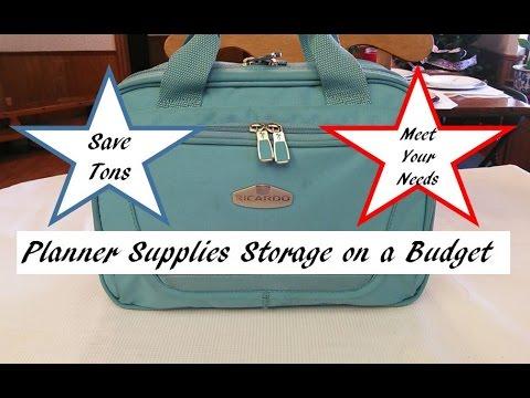 Planner Supplies Storage on a Budget