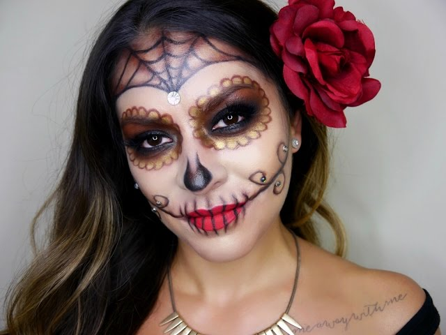 7 gorgeous dia de los muertos makeup ideas easy day of the dead sugar skull tutorials