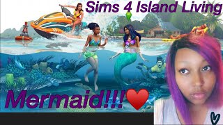 |The Sims Island Living|Ps4 Gameplay||Road To 1.5K|FaceCam|Create a Sim|Mermaid|