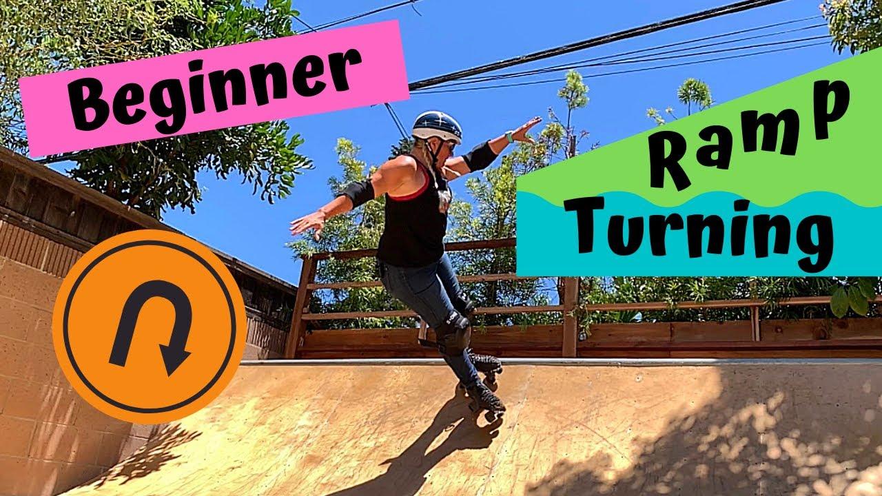 Roller Skating on a Ramp - Beginner Turns