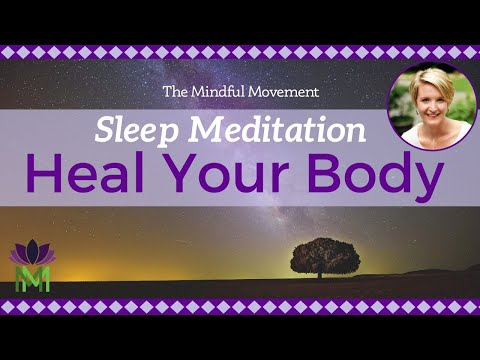 Heal Your Body While You Sleep / Sleep Meditation with Delta Waves / Mindful Movement