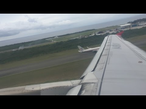 Avianca (Star Alliance) AV119 SDQ-BOG Pushback, Safety Video, Engine Start, Takeoff at Santo Domingo