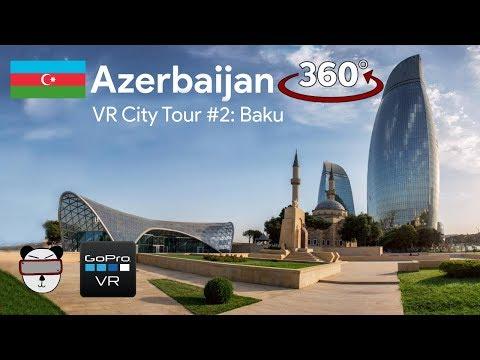 🏙VR City Tour | #2: Baku, Azerbaijan 🇦🇿【360 Video】